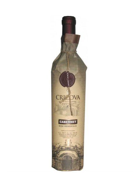 Vin Rosu Demidulce Cricova Hartie Cabernet Sauvignon, 75 cl