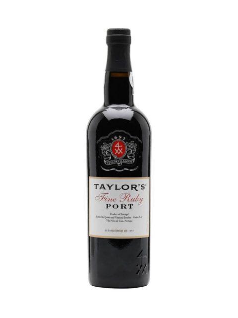 Vin Rosu Dulce Taylor's Fine Ruby Vin de Porto, 75 cl
