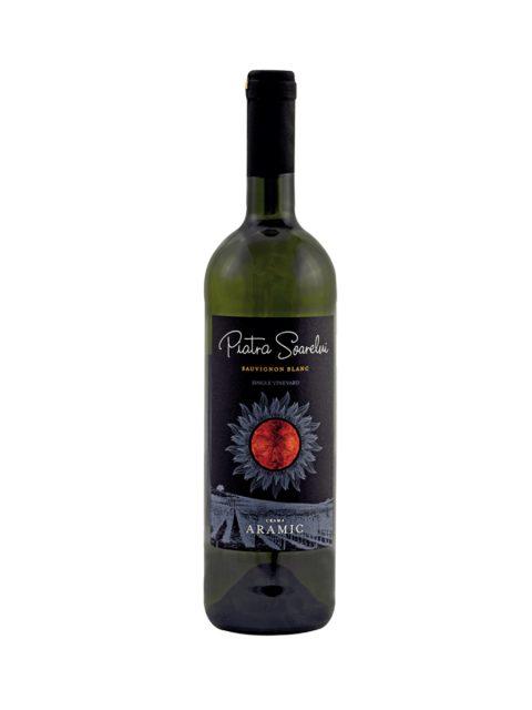 Vin Alb Sec Aramic Piatra Soarelui Sauvignon Blanc, 75 cl