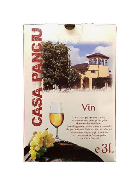 Vin Alb Demisec Casa Panciu Sauvignon Blanc BIB, 3 l
