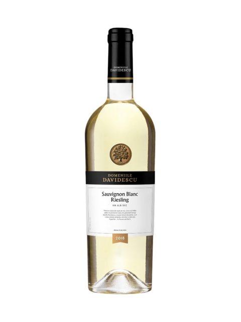 Vin Alb Sec Davidescu Sauvignon Blanc & Riesling, 75 cl