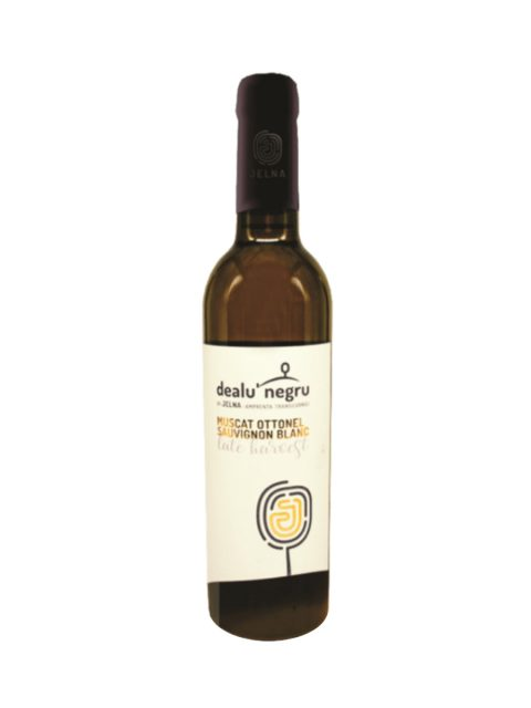 Vin Alb Demidulce Dealu Negru Jelna Late Harvest Muscat Ottonel Sauvignon Blanc, 375 ml