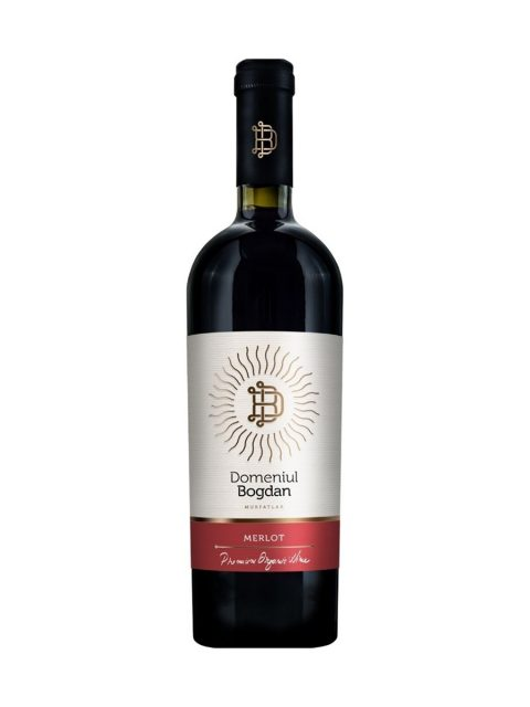 Vin Rosu Sec Domeniul Bogdan Premium Merlot, 75 cl