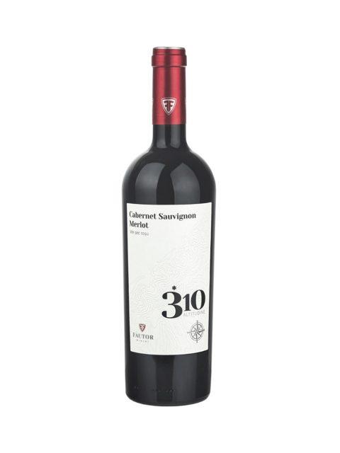 Vin Rosu Sec Fautor 310 Altitudine Cabernet Sauvignon & Merlot, 75 cl