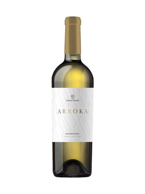 Vin Alb Demisec Lebada Neagra Arroka Sauvignon Blanc, 75 cl