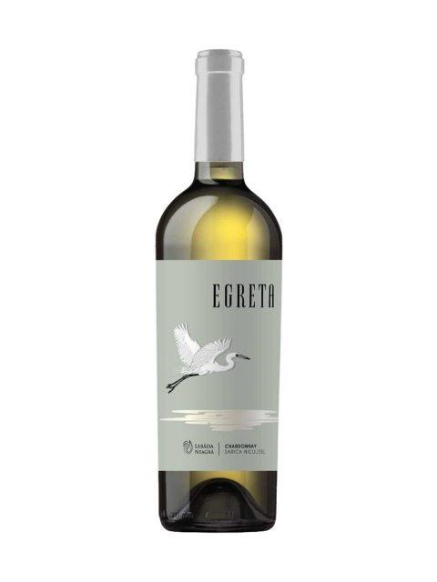 Vin Alb Sec Lebada Neagra Egreta Chardonnay, 75 cl