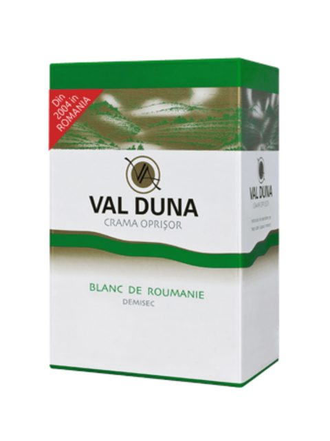 Vin Alb Demisec Oprisor Val Duna Blanc de Roumanie BIB, 10 l