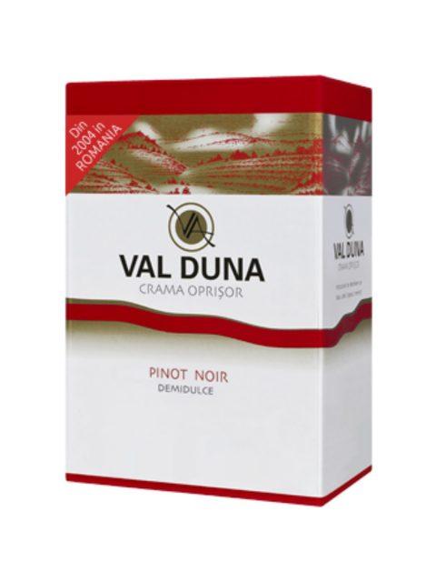 Vin Rosu Demidulce Oprisor Val Duna Pinot Noir BIB, 3 l