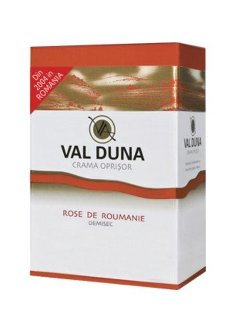 Vin Rose Demisec Oprisor Val Duna Rose de Roumanie BIB, 3 l