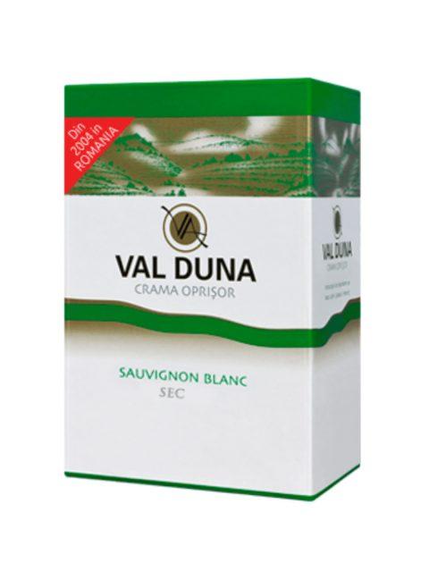 Vin Alb Demisec Oprisor Val Duna Sauvignon Blanc BIB, 5 l