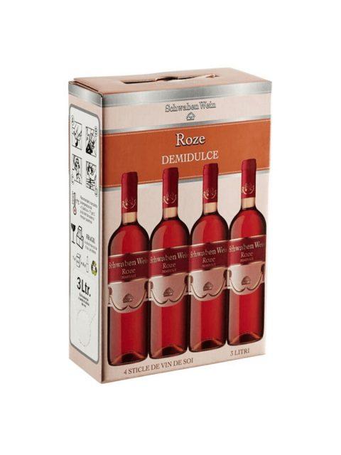 Vin Rose Demidulce Recas Schwaben Wein BIB, 3 l