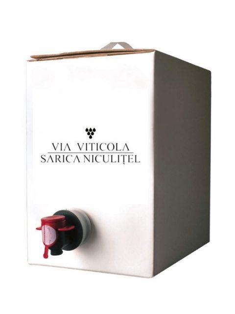 Vin Alb Demisec Sarica Niculitel Aligole Fume Blanc BIB, 3 l