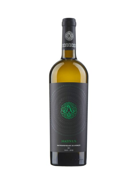 Vin Alb Sec Sauvignon Blanc de Averesti Nativus, 75 cl