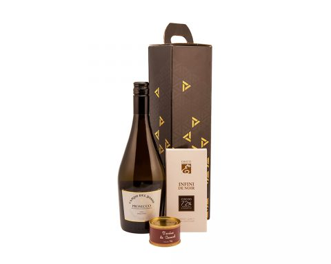 Pachet Cadou Black and White - Vin Spumant, ProseccoCampo del Passo, Frizzante, Extra Dry, Italia