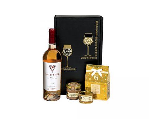 Pachet Cadou Happy V Day - Vin Rose Aurelia Visinescu Sensum