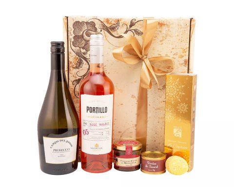 Pachet Cadou Sunny Easter - Vin Spumant, Prosecco Campo del Passo, Frizzante, Extra Dry, Italia; Vin Rose, Portillo, Malbec Rose, Salentein Wines, Argentina